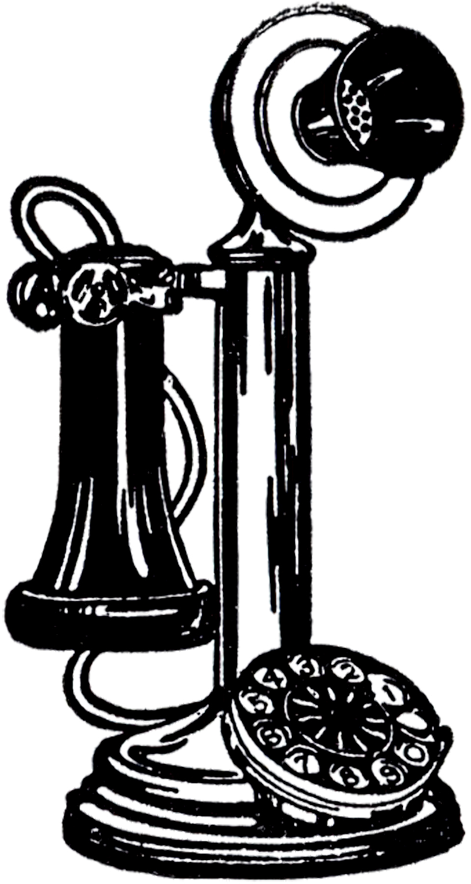Old fashioned phone clipart jpg royalty free library 7 Vintage Telephone Images! - The Graphics Fairy jpg royalty free library