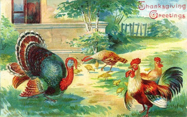 Old fashioned thanksgiving clipart jpg stock Free Vintage Thanksgiving Greeting Cards - Vintage Holiday Crafts jpg stock