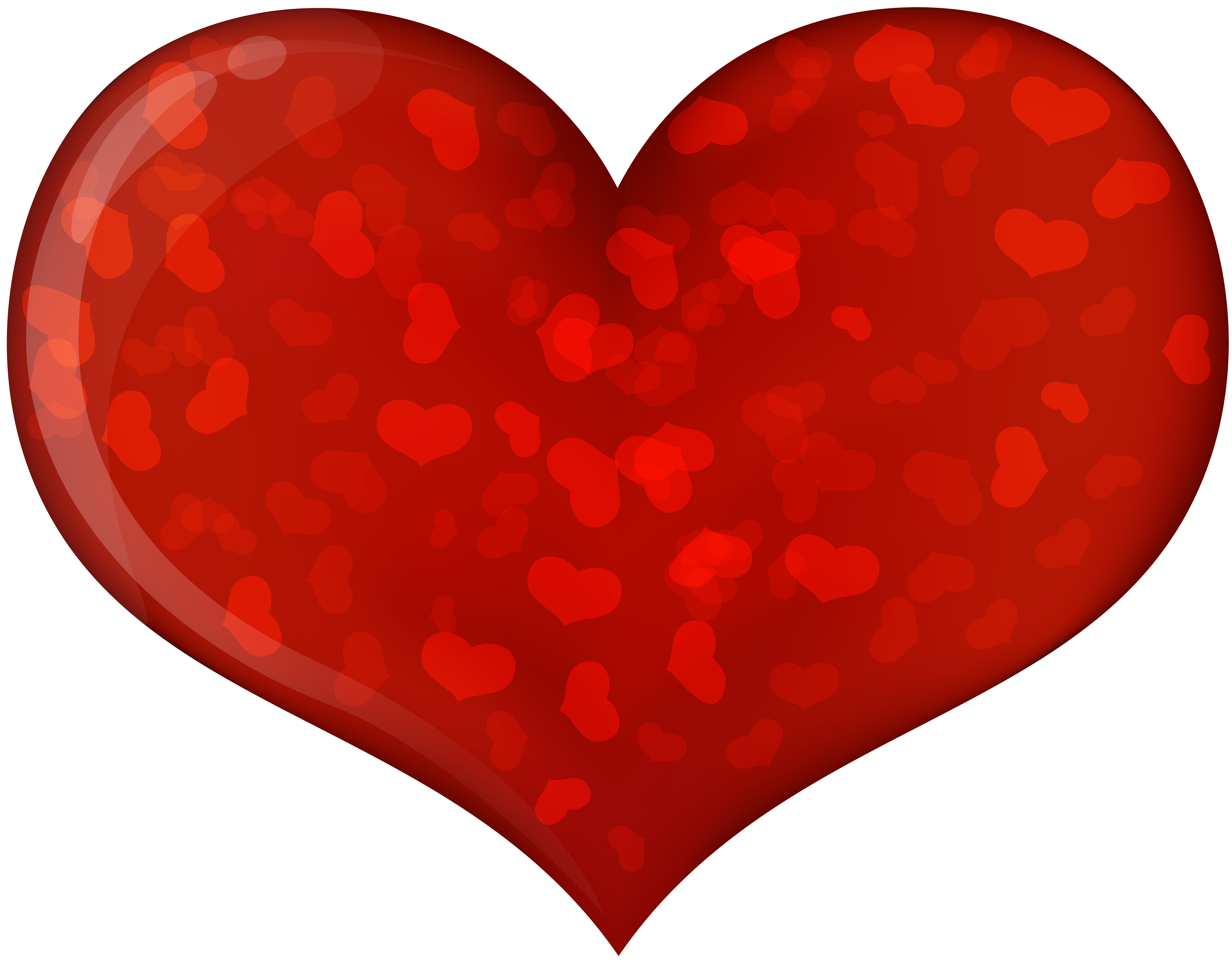 Old heart clipart svg library download Red Heart with Hearts Transparent PNG Image | Gallery Yopriceville ... svg library download