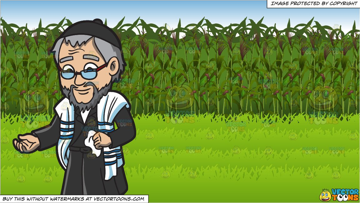 Old jewish man black and white clipart clipart royalty free download An old Jewish man and Corn Field Background clipart royalty free download