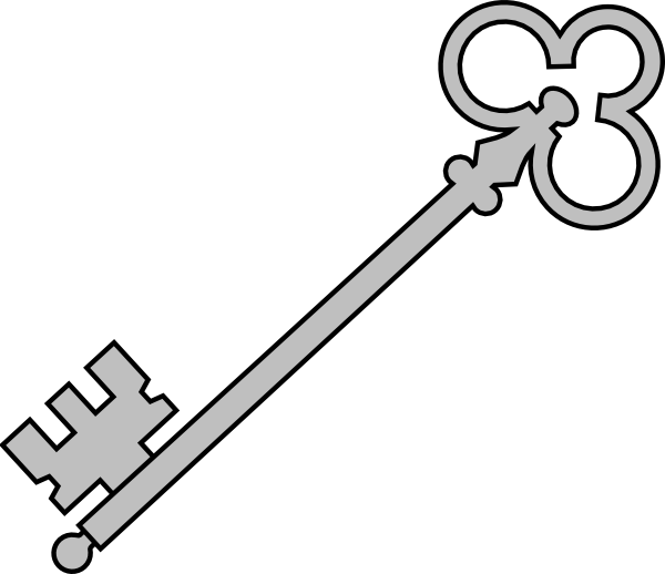 Old key cliparts graphic freeuse download Black Olde Key Clip Art at Clker.com - vector clip art ... graphic freeuse download