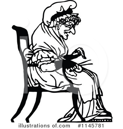 Old lady with hat black and white clipart clipart transparent Old Woman Clipart #1145781 - Illustration by Prawny Vintage clipart transparent