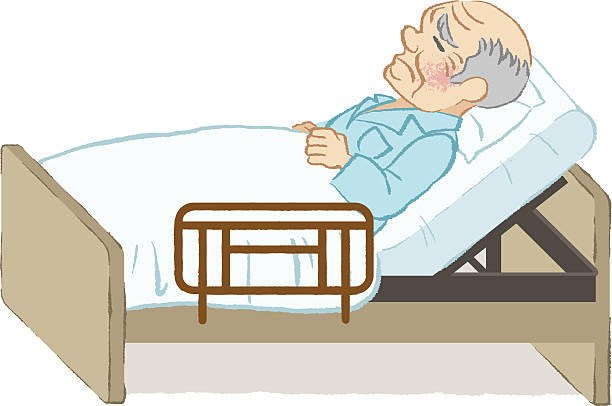 Old man bed clipart black and white picture black and white download Old Man In Bed Clipart picture black and white download