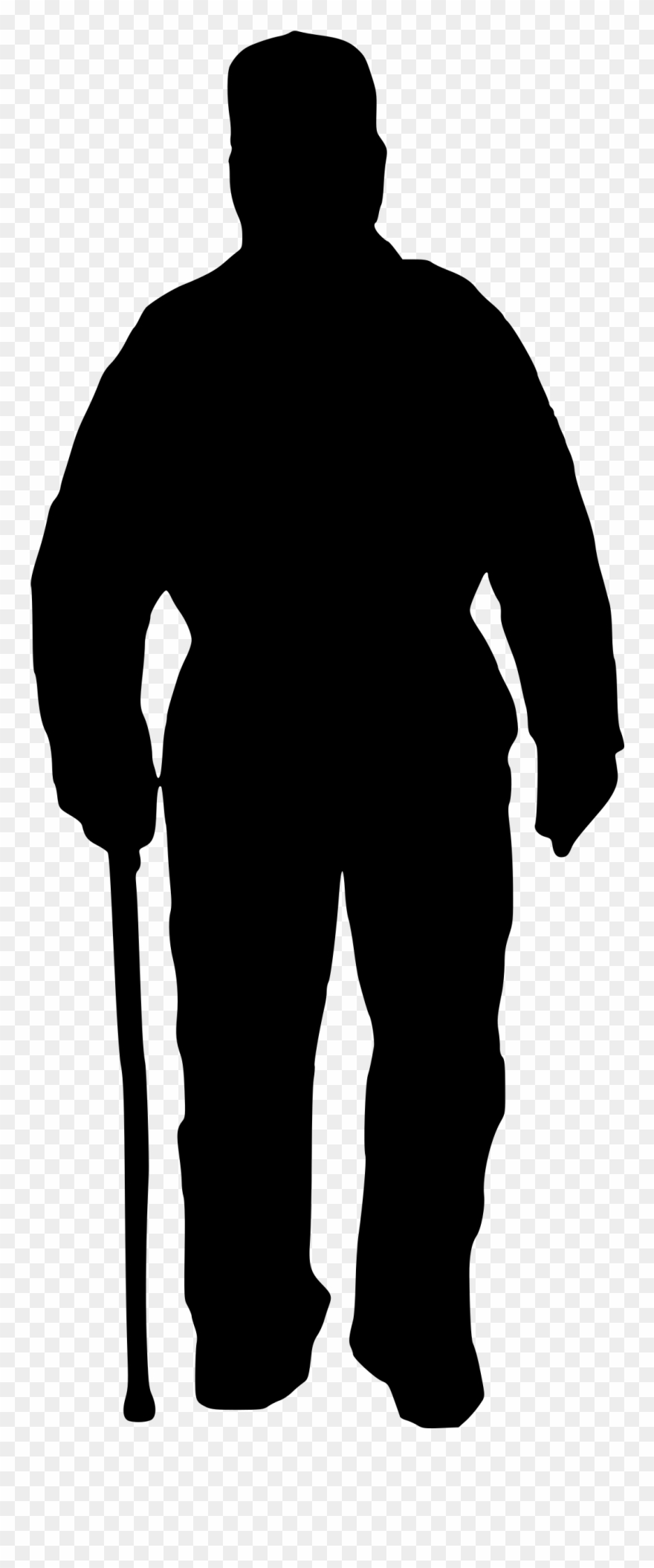 Old man clipart black and white png png royalty free library Christian Men And Women Silhouettes Png - Silhouette Of An ... png royalty free library