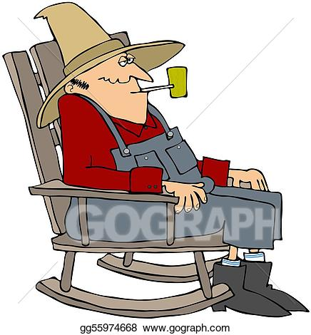 Old man in chair clipart png free stock Stock Illustration - Old man in a rocking chair. Clipart ... png free stock