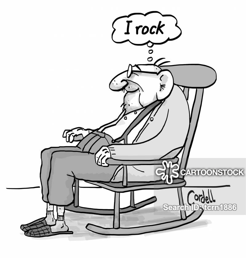 Old man in chair clipart svg black and white stock Rocking Chair Cartoons and Comics - funny pictures from ... svg black and white stock