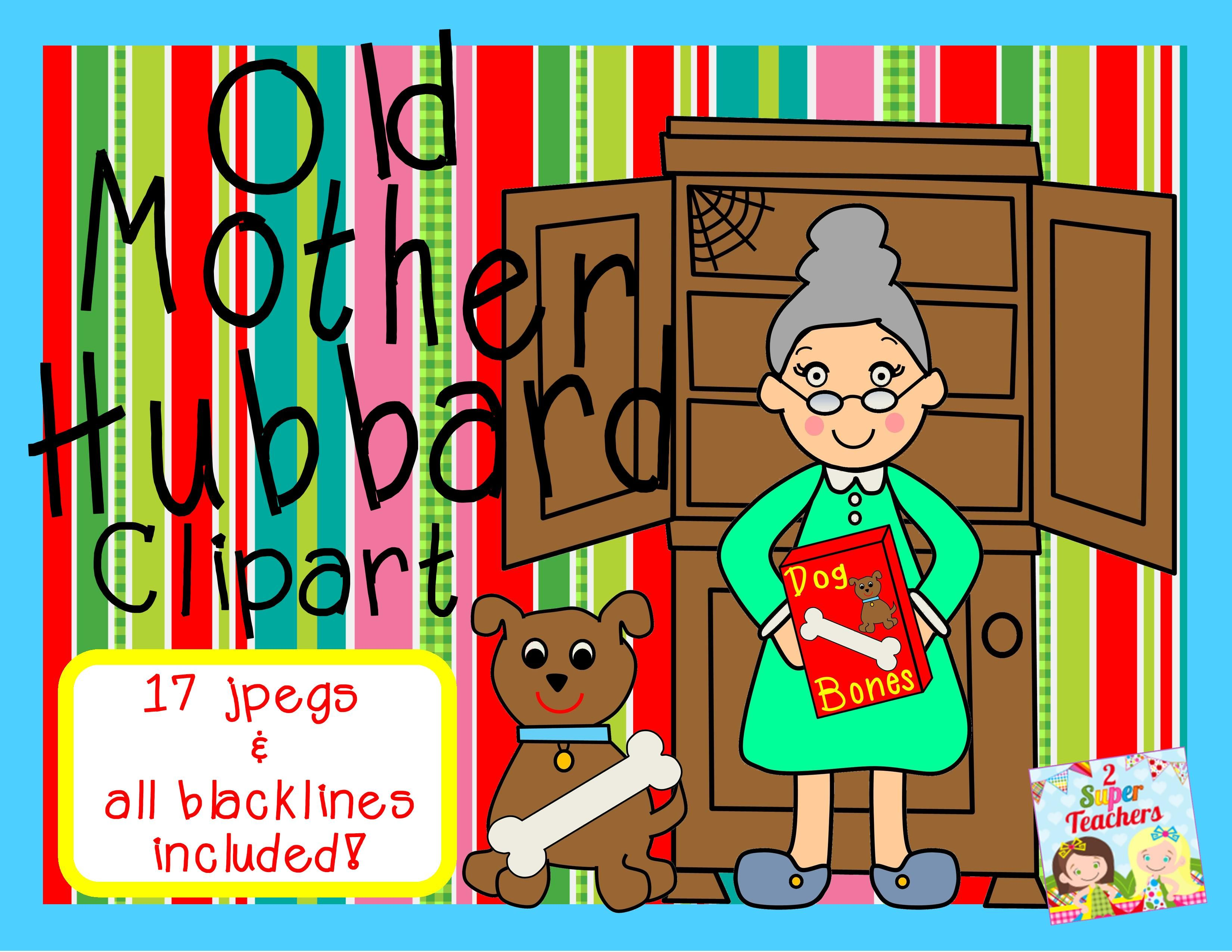Old mother hubbard clipart banner free stock Old Mother Hubbard Clipart: 2 Super Teachers on TPT ... banner free stock