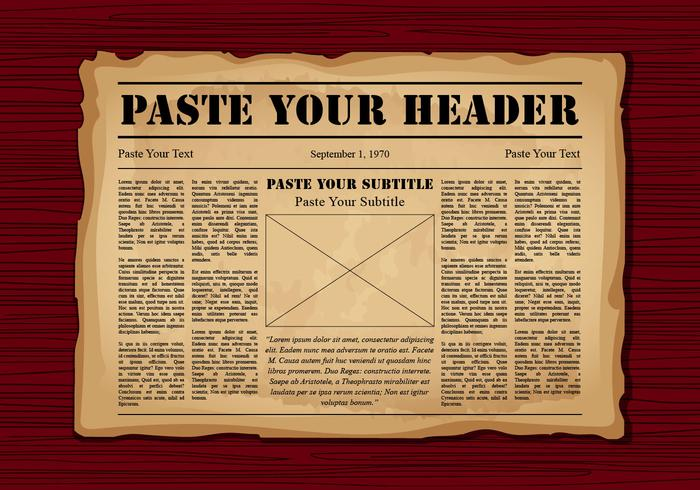 Old newspaper clipart clip free stock Old Newspaper - Download Free Vectors, Clipart Graphics ... clip free stock