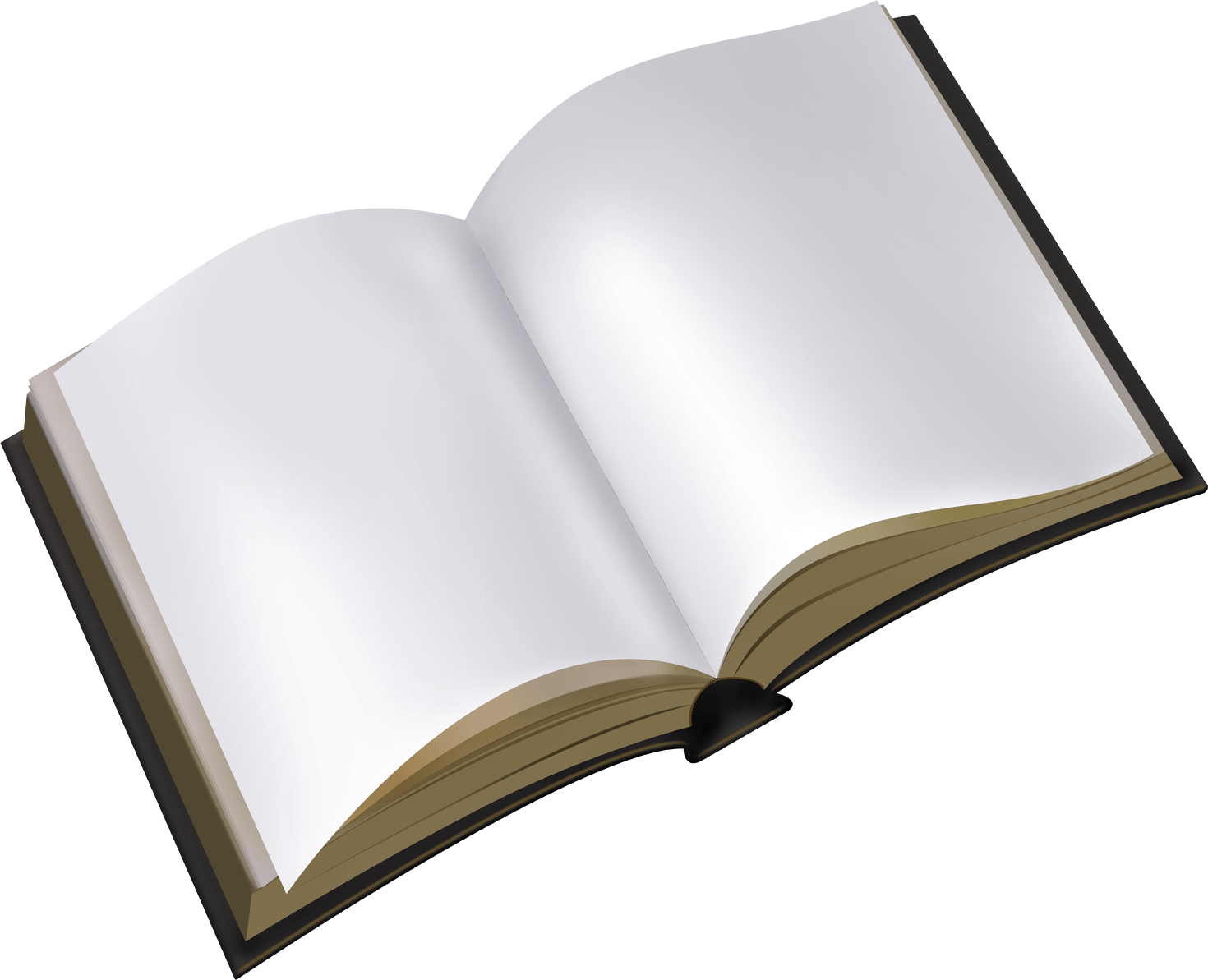 Old open book clipart image royalty free Open White Book transparent PNG - StickPNG image royalty free