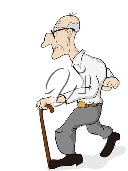Old people walking with a cane clipart svg royalty free iCLIPART - Clip Art Illustration of an old man walking with ... svg royalty free