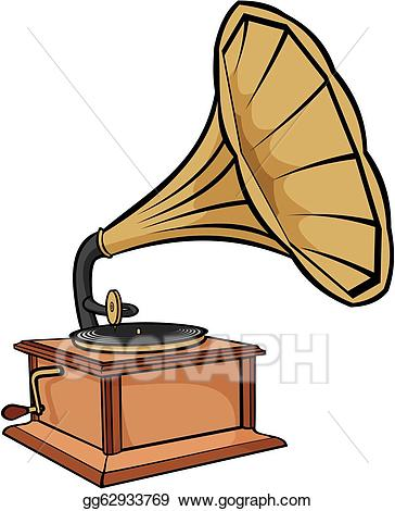 Old phonograph clipart graphic royalty free Vector Art - Phonograph - vintage gramophone. Clipart ... graphic royalty free