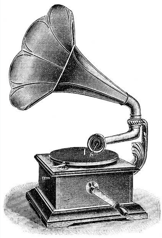 Old phonograph clipart png black and white stock vintage illustration of a phonograph record player | old ... png black and white stock