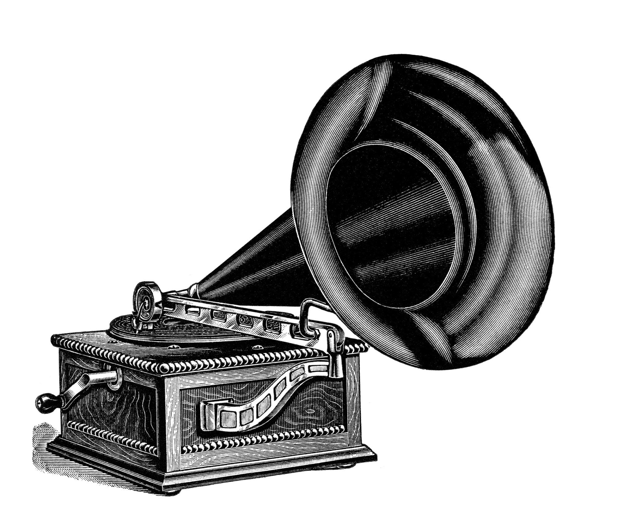 Old phonograph clipart jpg free download talking machine clip art, vintage gramophone image, black ... jpg free download