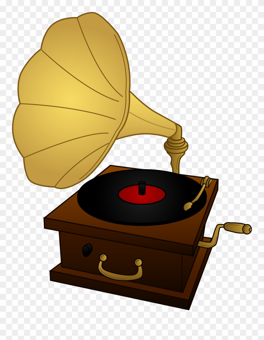 Old phonograph clipart svg stock Old Record Player Drawing At Getdrawings Com - Gramophone ... svg stock