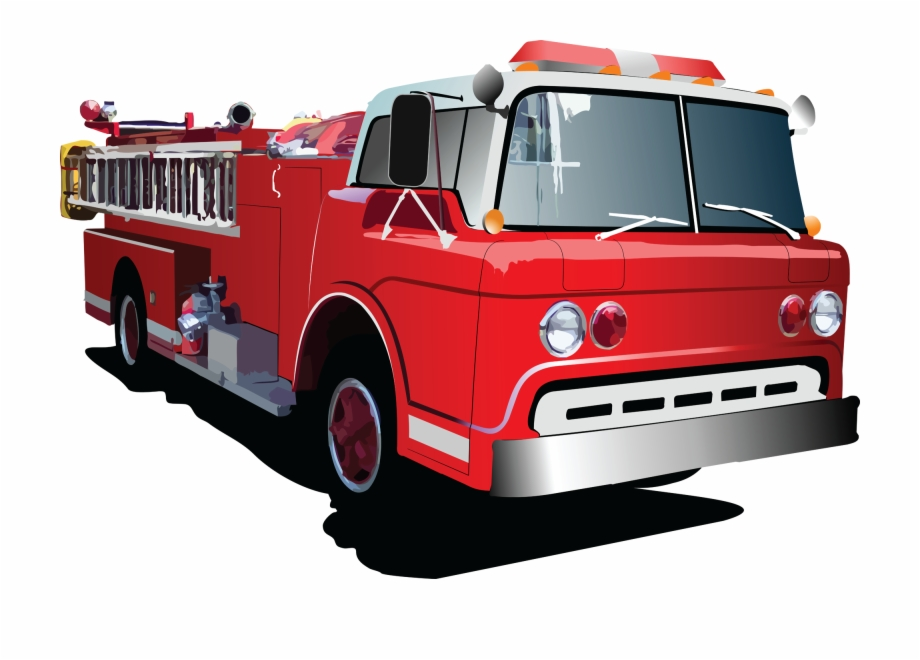 Old red truck png free clipart vector banner library library Fire Truck Cartoon Clipart - Fire Engine Truck Vector ... banner library library