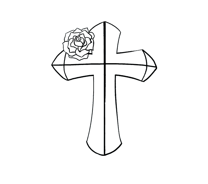 Old rugged cross with sun rays around it clipart png black and white stock Cross Drawing at GetDrawings.com | Free for personal use Cross ... png black and white stock