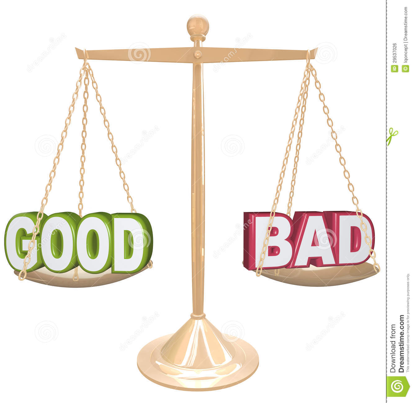 Old scale clipart for good and bad svg stock Good Vs Bad Clipart svg stock