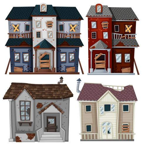 Old scale clipart for good and bad picture royalty free download Old houses in very bad condition - Download Free Vectors ... picture royalty free download