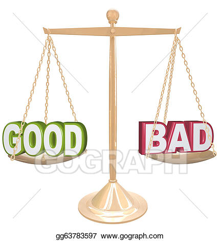 Old scale clipart for good and bad png royalty free library Good Vs Bad Clipart png royalty free library