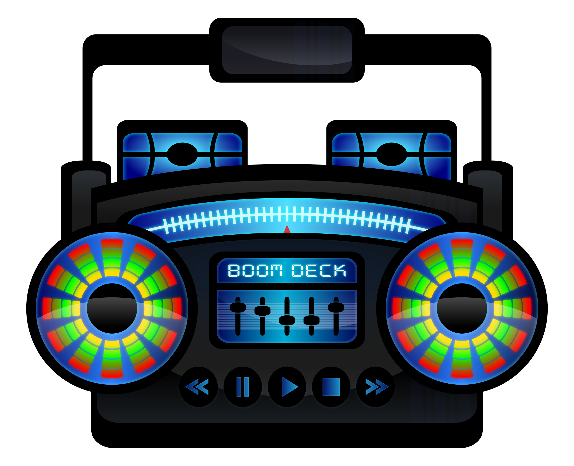 Old school boombox clipart royalty free Clipart - Mini Boom Box royalty free