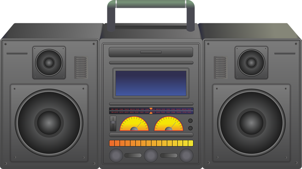 Old school boombox clipart picture transparent stock Free photo Radio Ghetto Ghetto Blaster Blaster Boombox Stereo - Max ... picture transparent stock