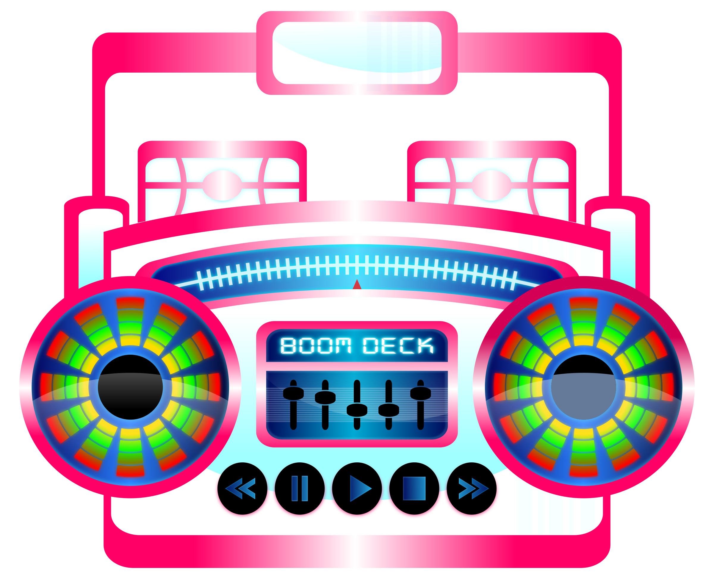 Old school boombox clipart clip royalty free Clipart - Mini Boom Box Fuschia clip royalty free