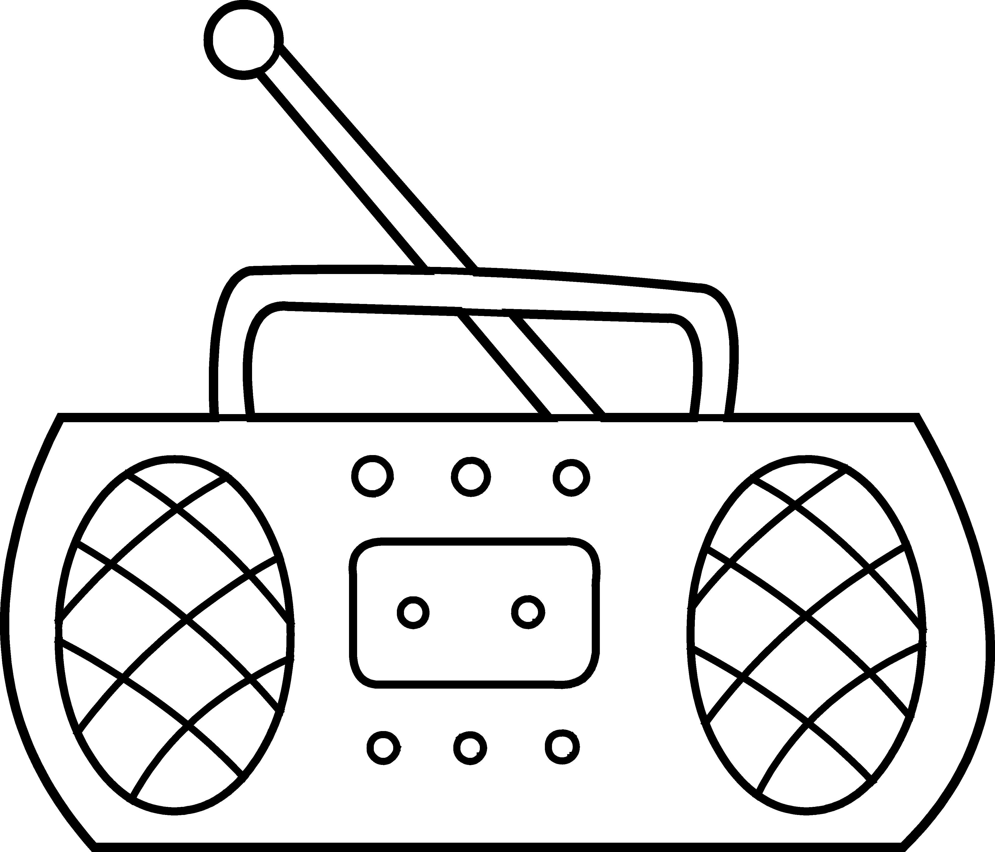Old school boombox clipart vector Radio Coloring Page - Free Clip Art vector