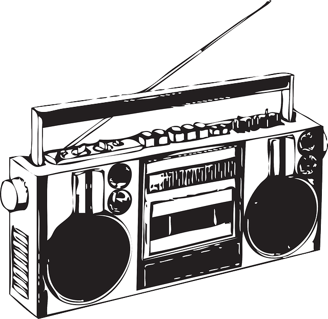 Old school boombox clipart svg Cool vector boombox. Also reminds me of the beloved model I owned as ... svg