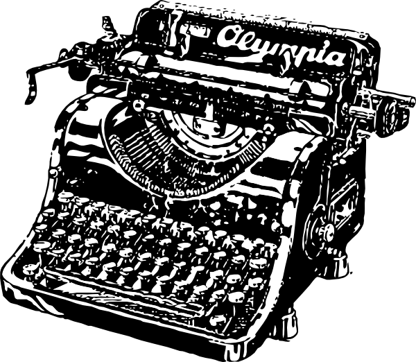 Old school clipart svg free download Old Fashioned Typewriter Clipart svg free download