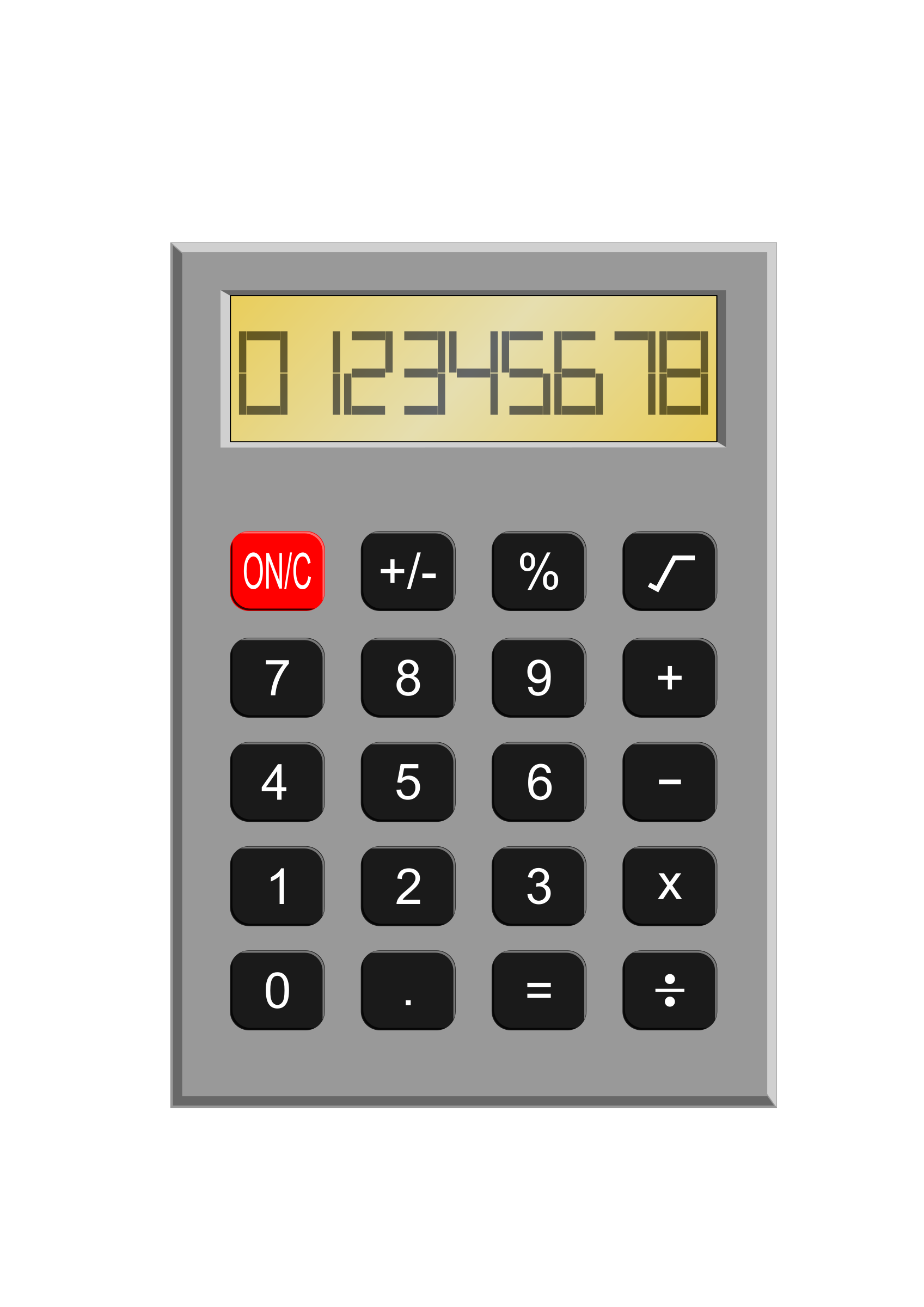 Old school clipart jpg black and white Clipart - Old Calculator jpg black and white
