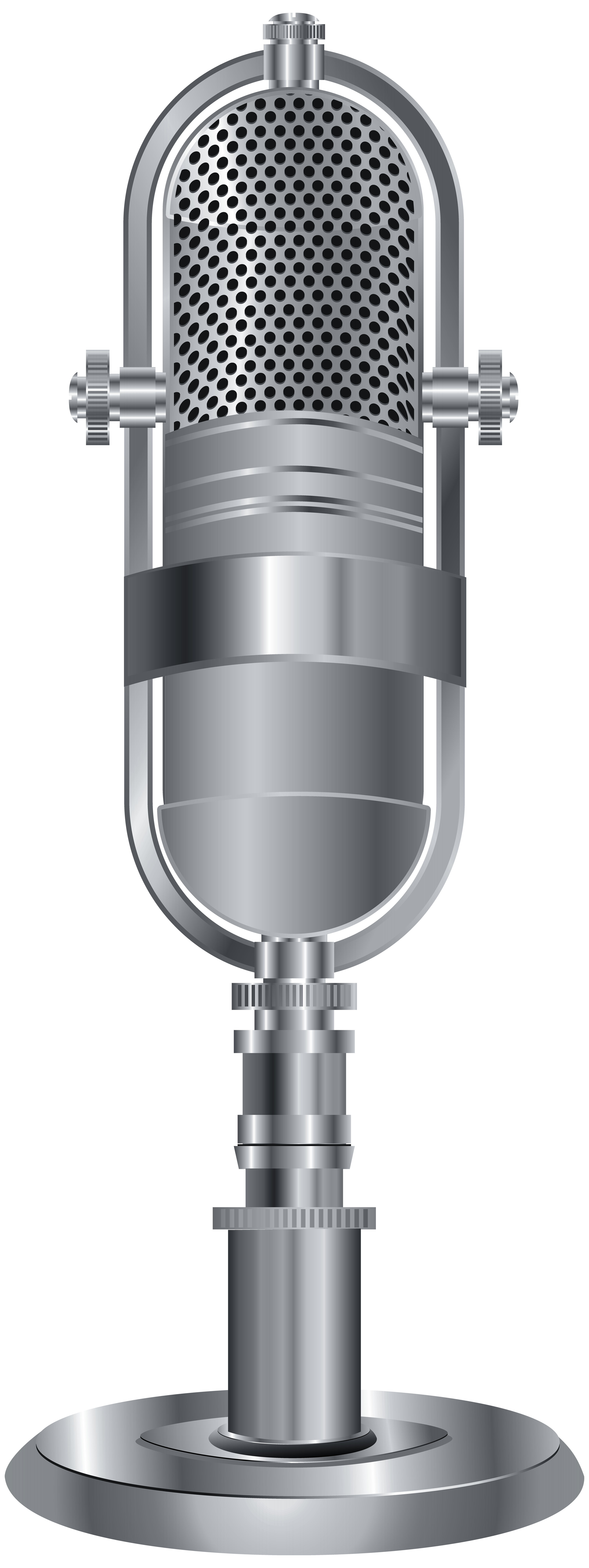 Old school microphone clipart vector download Studio Microphone Silver PNG Clip Art Image | Gallery Yopriceville ... vector download