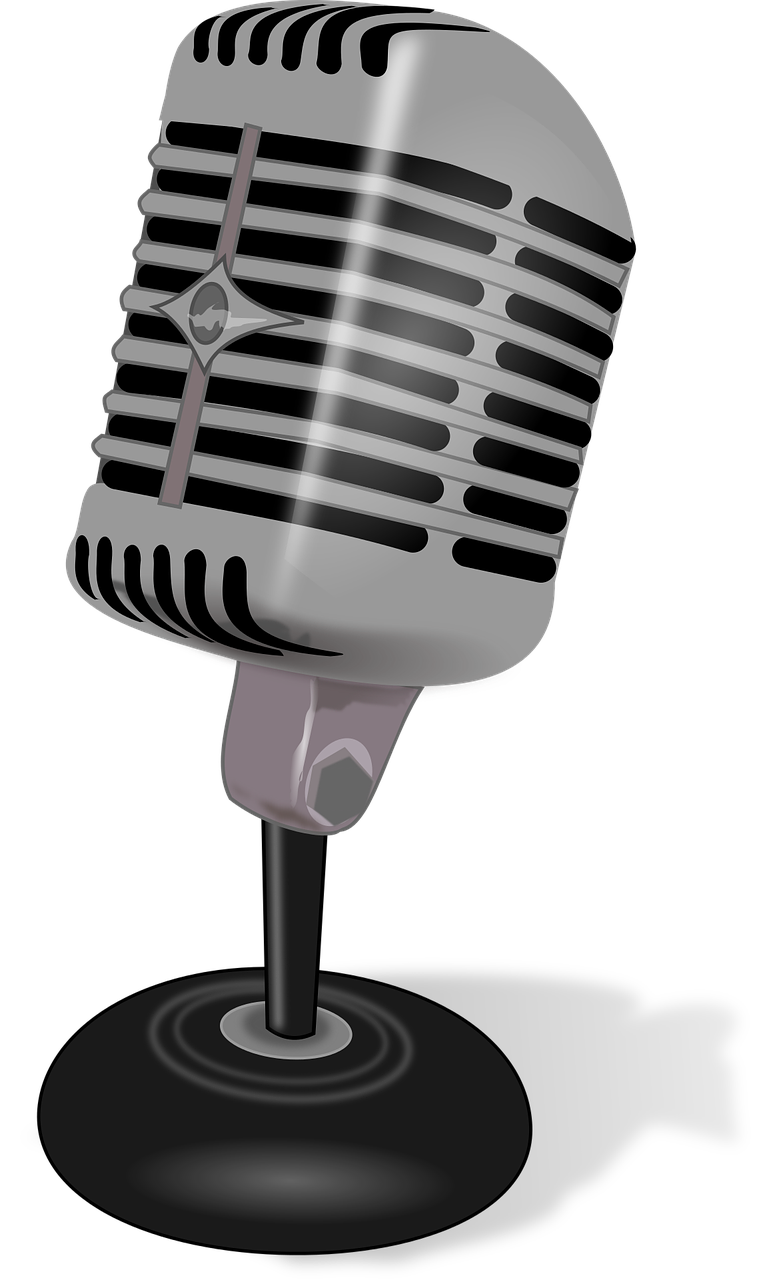 Old school microphone clipart clipart freeuse Free Image on Pixabay - Microphone, Talk, Speak, Record | Pinterest ... clipart freeuse
