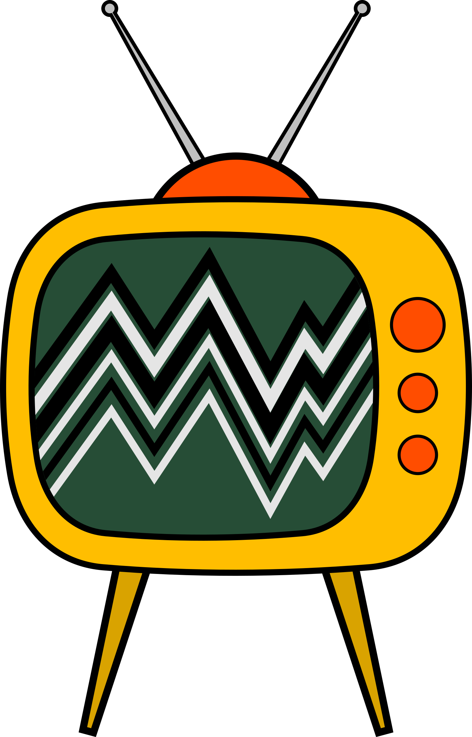 Old school tv clipart clipart freeuse Old TV Cartoon Icons PNG - Free PNG and Icons Downloads clipart freeuse