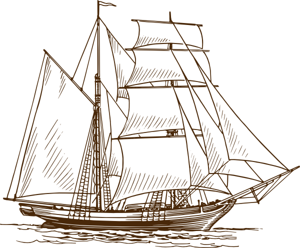 Old ship clipart graphic black and white Sailing Ship Clipart - Clipart Kid | Ocean | Boat drawing ... graphic black and white