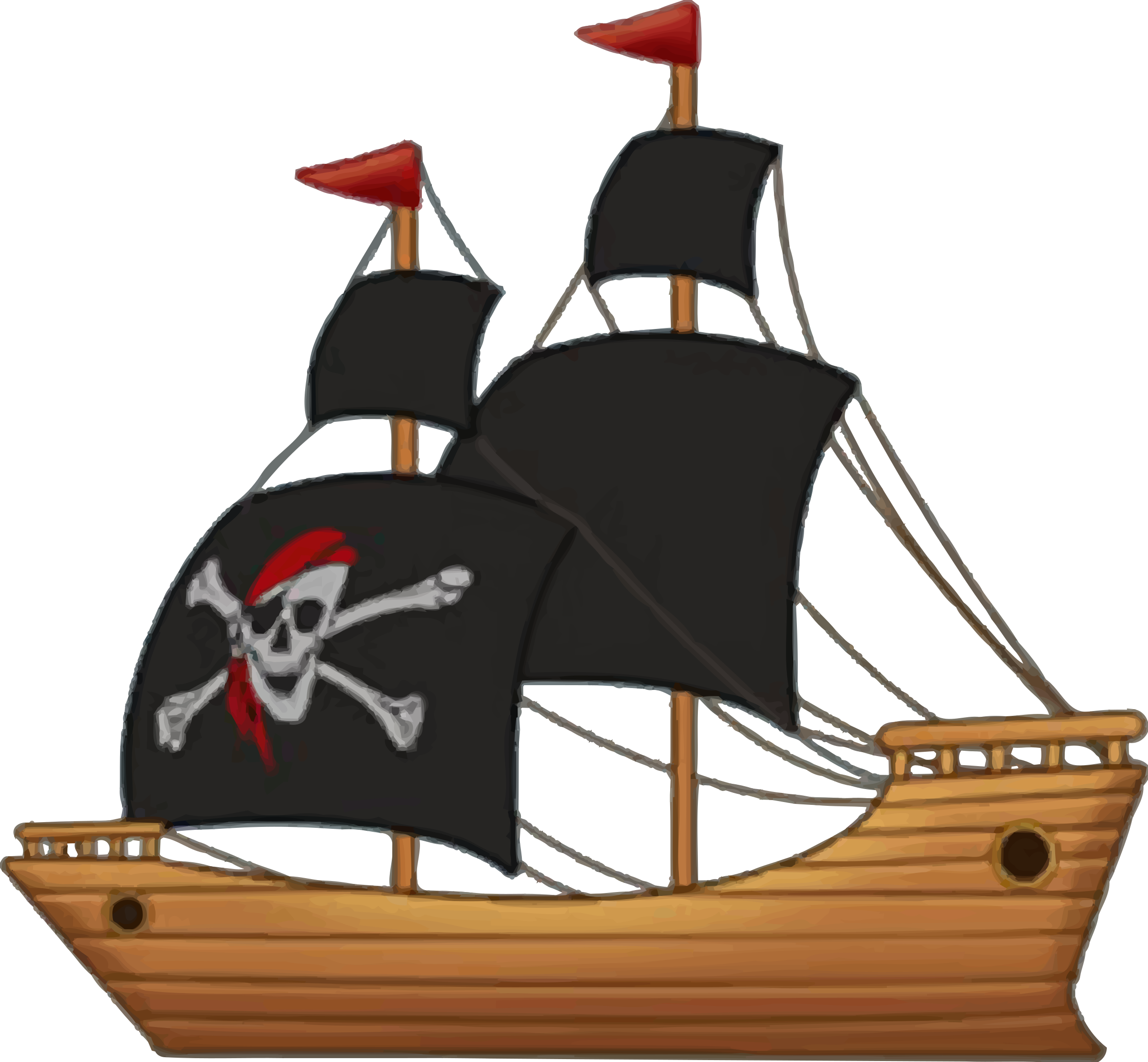 Old ship sun clipart clip art freeuse download Pirate ship by @Firkin, From an image on OpenGameArt.org., on ... clip art freeuse download