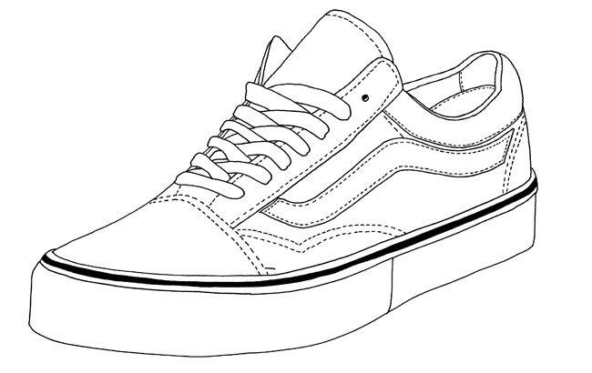 Old skool vans clipart vector free download Vans Old Skool | Footwear Templates | Sneaker art, Sneakers ... vector free download