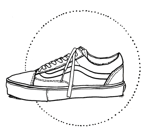 Old skool vans clipart jpg library Vans Shoe Drawing at PaintingValley.com | Explore collection ... jpg library