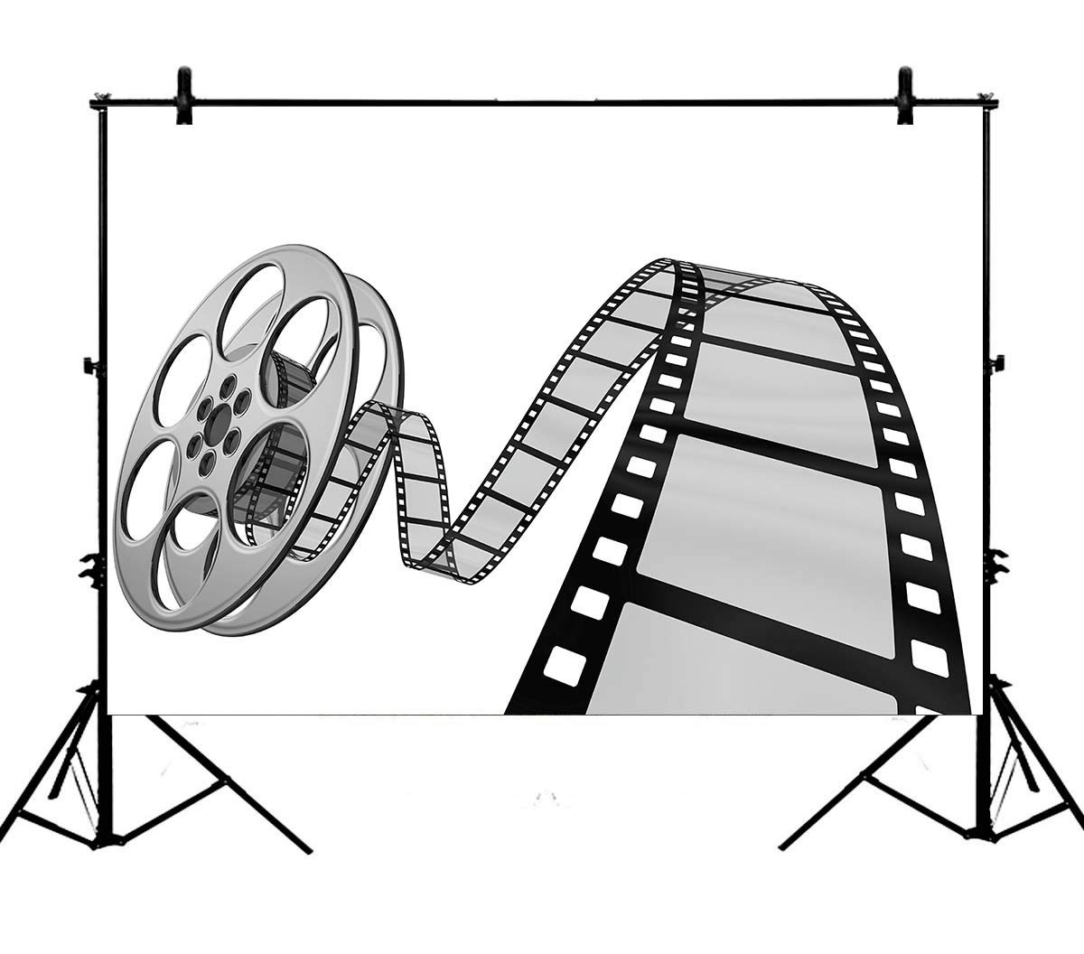 Old time camera clipart picture free Amazon.com : 7x5ft Old Time Movie Camera Clip Art Movie Reel ... picture free