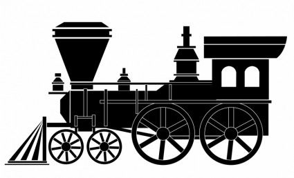 Old train clipart vector black and white stock Collection of Train clipart | Free download best Train ... vector black and white stock