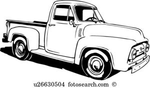 Old truck black and white clipart picture stock Truck black and white old chevy truck clipart clipground ... picture stock