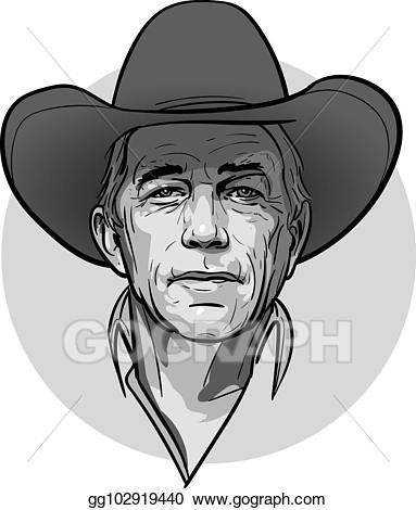 Old west sun black and white clipart graphic black and white download Vector Stock - Classic old western style cowboy with hat and ... graphic black and white download