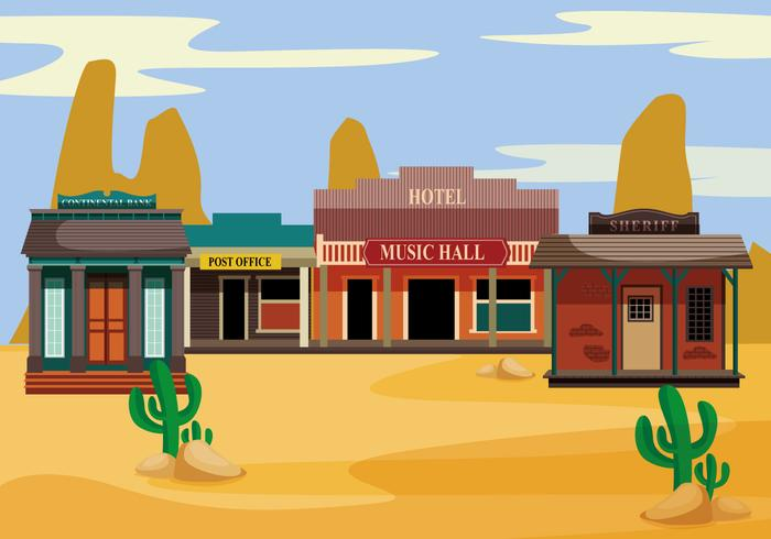 Old west sunrise black and white clipart jpg royalty free library Old western towns vector - Download Free Vectors, Clipart ... jpg royalty free library