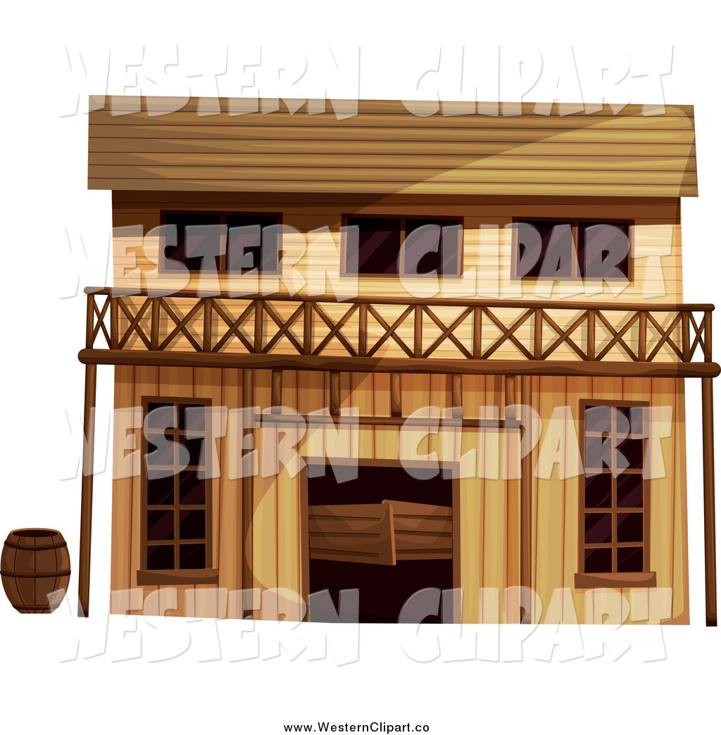 Old western saloon clipart svg royalty free stock Vector Clip Art of a Wild West Saloon Building by Graphics ... svg royalty free stock