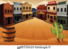 Western town clipart free vector download Western Saloon Clip Art - Royalty Free - GoGraph vector download