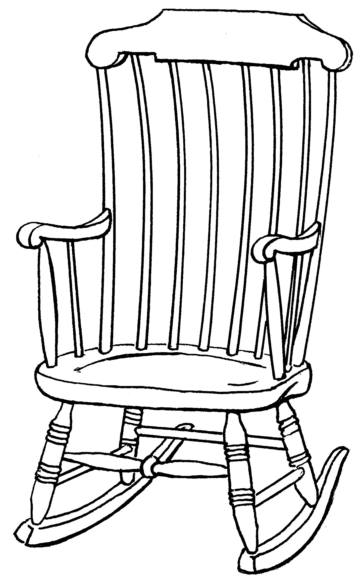 Old woman clipart black and white rocker image free download Free Rocking Chair Cliparts, Download Free Clip Art, Free ... image free download