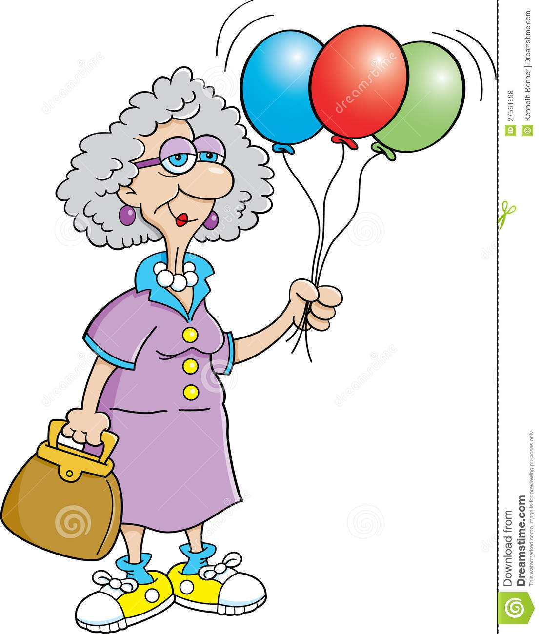 Old woman enjoying life clipart vector library Happy Birthday Old Woman — Lovely Meme vector library