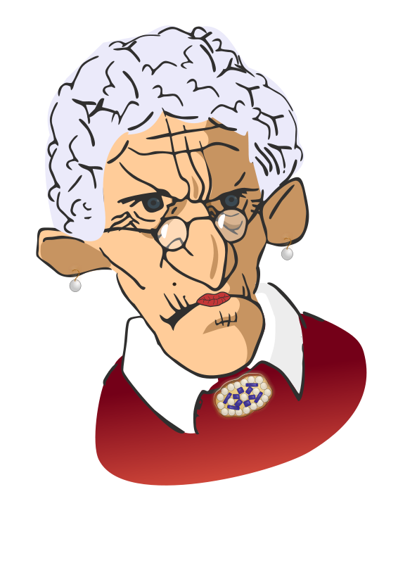 Old woman enjoying life clipart svg stock Free Grumpy Woman Cartoon, Download Free Clip Art, Free Clip ... svg stock