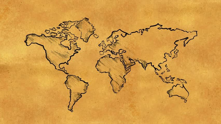 Old world clipart clipart World Map Clipart old map 11 - 852 X 480 | projects to try ... clipart