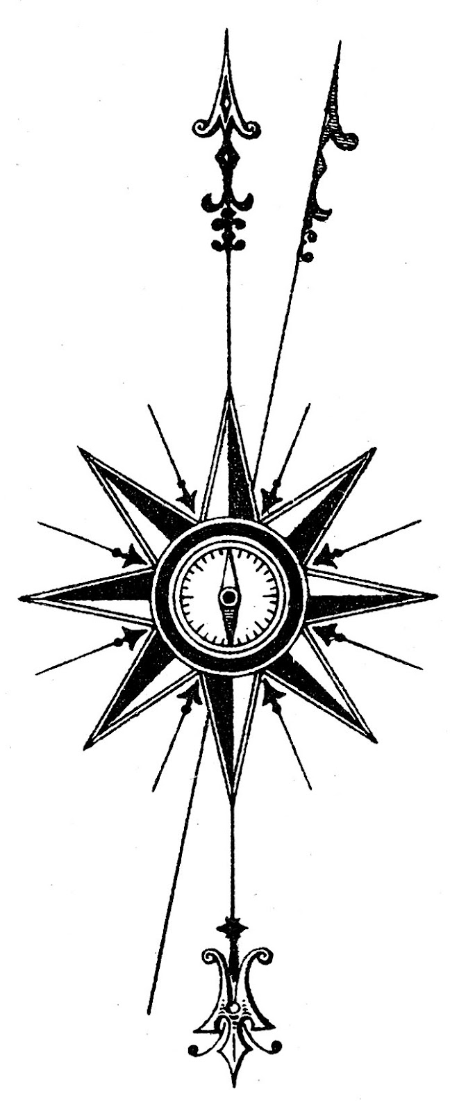 Old world clipart png black and white stock Old world nautical clipart compass - Clip Art Library png black and white stock