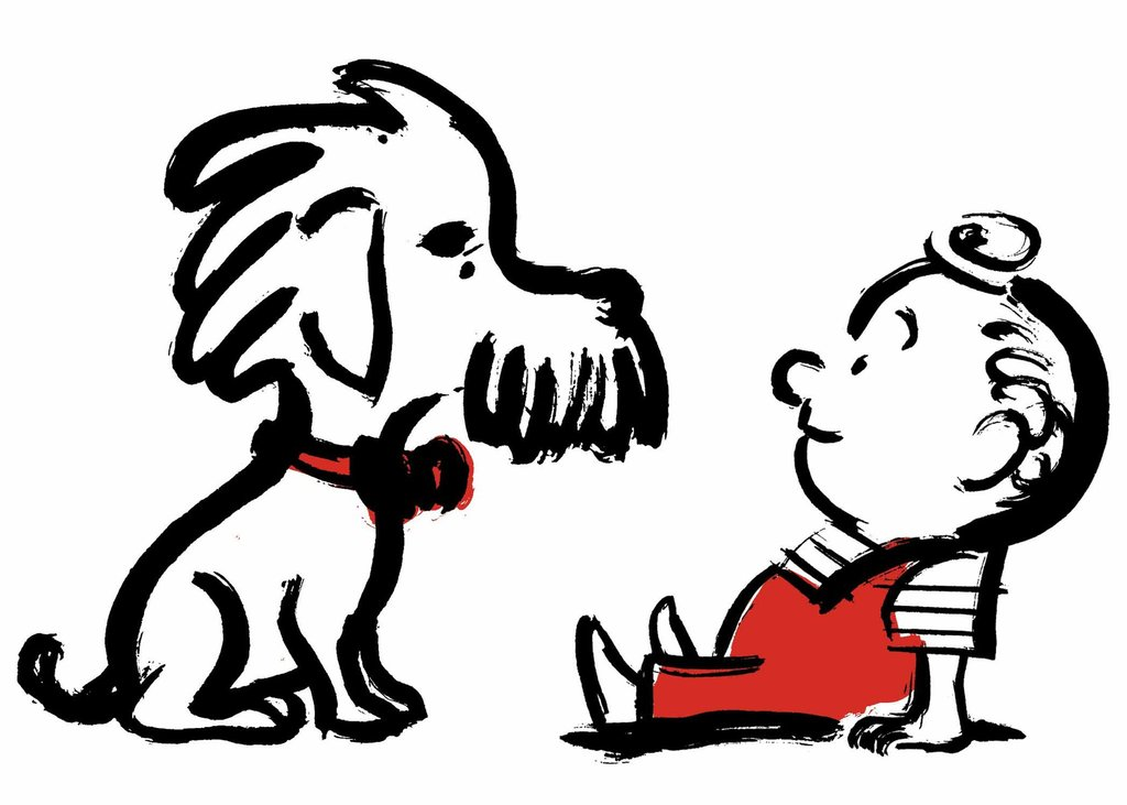Older boy with dog black and white clipart graphic free Is Your Dog Smarter Than a 2-Year-Old? - The New York Times graphic free